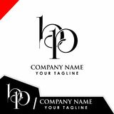 Initial logo design bp. Vector Royalty Free Stock Photo