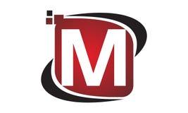 Initial M för teknologirörelsesynergi Royaltyfri Bild