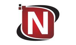 Initial N för teknologirörelsesynergi Royaltyfri Bild