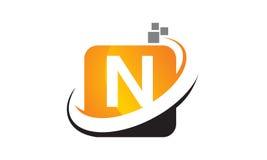 Initial N för teknologirörelsesynergi Fotografering för Bildbyråer