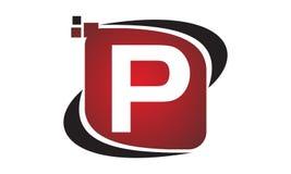 Initial P för teknologirörelsesynergi Royaltyfri Bild