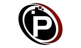 Initial P för teknologirörelsesynergi Royaltyfria Bilder