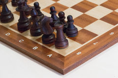 The initial placement. Of chess Royalty Free Stock Photo