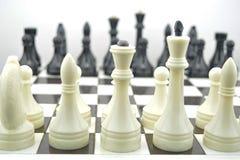 Initial position för schackkombination royaltyfri bild