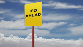 Initial public offering concept-  many uses for stocks and inves Royalty Free Stock Photos