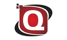 Initial Q för teknologirörelsesynergi Royaltyfri Fotografi