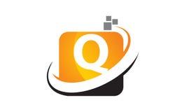 Initial Q för teknologirörelsesynergi Arkivbilder