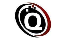 Initial Q för teknologirörelsesynergi Royaltyfria Bilder