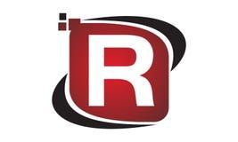 Initial R för teknologirörelsesynergi Arkivfoto