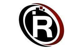 Initial R för teknologirörelsesynergi Arkivfoton