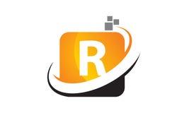 Initial R för teknologirörelsesynergi Royaltyfri Fotografi