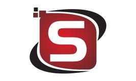 Initial S för teknologirörelsesynergi Royaltyfria Bilder
