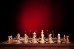 The initial setup of a chess board Royalty Free Stock Photography