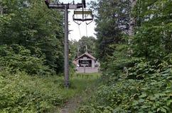 Initial station av stolelevatorn i det vitosha berget royaltyfri bild