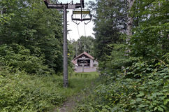 Initial station of chair lift in vitosha  mountain. Dragalevtsi, Bulgaria Royalty Free Stock Image