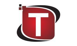 Initial T för teknologirörelsesynergi Royaltyfria Foton