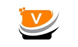 Initial V för teknologirörelsesynergi Arkivfoto