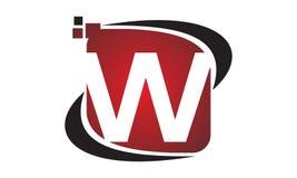 Initial W för teknologirörelsesynergi Royaltyfri Bild