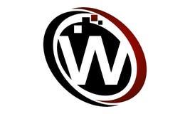 Initial W för teknologirörelsesynergi Royaltyfria Bilder