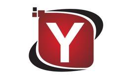 Initial Y för teknologirörelsesynergi Arkivfoto