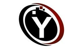 Initial Y för teknologirörelsesynergi Royaltyfri Bild