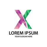 Initiale polygonale X avec le logo Photos libres de droits