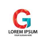 Initiale polygonale G avec le logo Photographie stock libre de droits