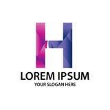 Initiale polygonale H avec le logo Images stock
