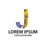 Initiale polygonale J avec le logo Image libre de droits