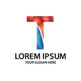 Initiale polygonale T avec le logo Photos stock