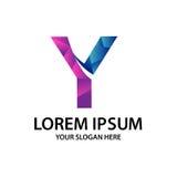 Initiale polygonale Y avec le logo Photos stock