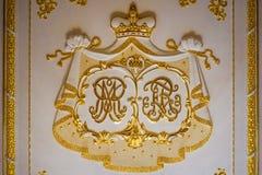 Initiales de Radziwill de château de Nesvizh photo libre de droits
