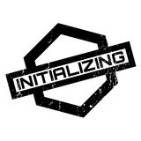 Initializing rubber stamp Royalty Free Stock Photo