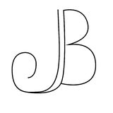 Initials lettering, hand drawing  monogram J,B. Initials lettering, hand drawing monogram J,B. Vector illustration Royalty Free Stock Photography