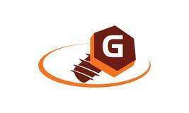 Initialt G för industriella lösningar Royaltyfri Bild