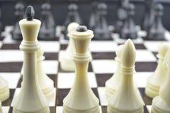 Initialt tillstånd för schack figures white svarta schackdiagram Royaltyfri Fotografi