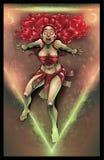 Initiation of the Sorceress. Raster illustration vector illustration