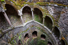 The Initiation well of Quinta da Regaleira Stock Photo