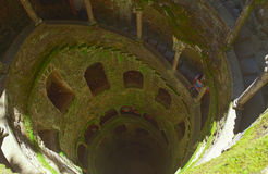 The Initiation well of Quinta da Regaleira in Stock Photo