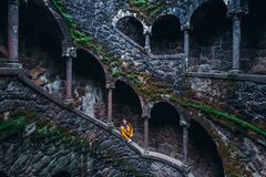 Initiation well in Sintra. Protugal. stock images