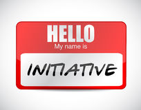 Initiative name tag illustration design Royalty Free Stock Image