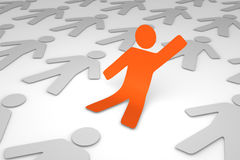 Initiative person standing up. 3d render Stock Photo