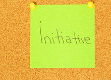 Initiative post-it coarkboard background Royalty Free Stock Photography