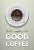 Inizi di ogni giorno con buon caffè Royalty Illustrazione gratis