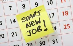 Inizi il nuovo lavoro! Immagini Stock Libere da Diritti