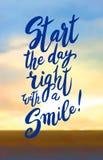Inizi il vostro giorno con un sorriso Fotografia Stock Libera da Diritti