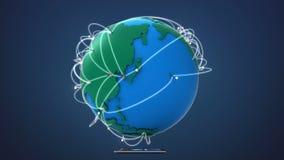 Inizi l'ASIA, coltivante la rete globale con la comunicazione royalty illustrazione gratis