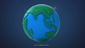 Inizi l'India, coltivante la rete globale con la comunicazione illustrazione di stock