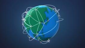 Inizi la Cina, coltivante la rete globale con la comunicazione illustrazione di stock