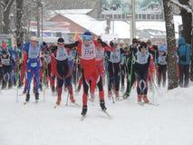 Inizi la corsa di sci 3 Immagine Stock